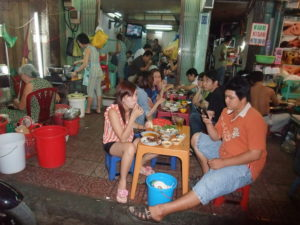 уличное кафе нячанг
