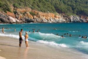 пляж в турции