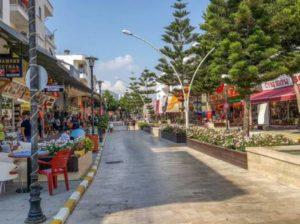 улица с магазинами в белек