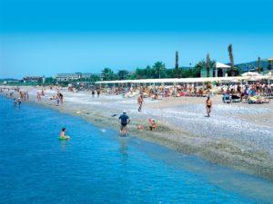 пляж отеля в окурджалар