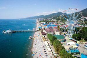 пляжи на курорте лазаревское