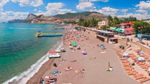 пляжи в городе судак