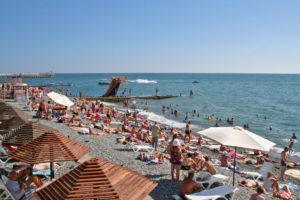 пляж огонёк в адлере