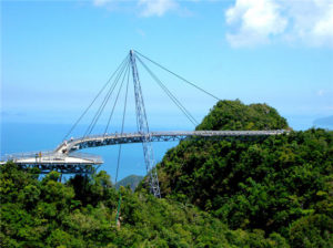 самый высокий одноопорный мост в мире