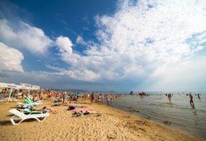 пляж отеля Ателика Гранд Меридиан 3* в анапе