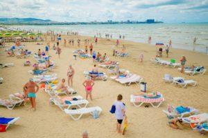 пляж пансионата Славянка 3*