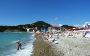 центральный пляж в туапсе
