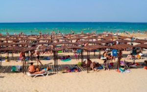 пляж пансионата фея 3* в анапе