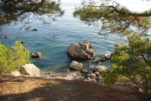 пляж инжир в балаклаве крым