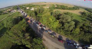 Пробки на дорогах Крыма